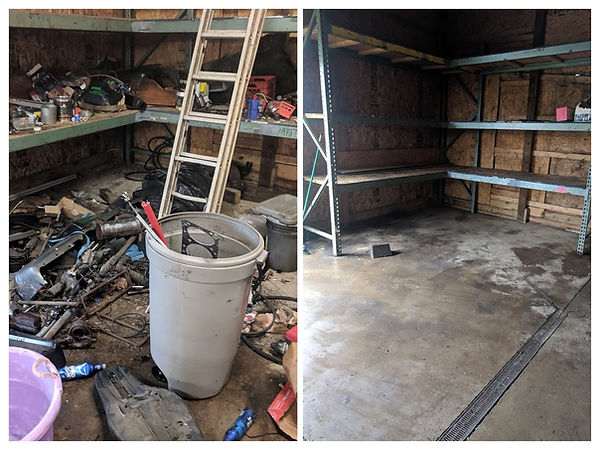 before and after garage junk removal