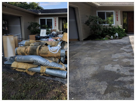before and after clean up in Dublin, OH