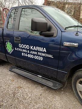 Good Karmas Junk Removal truck
