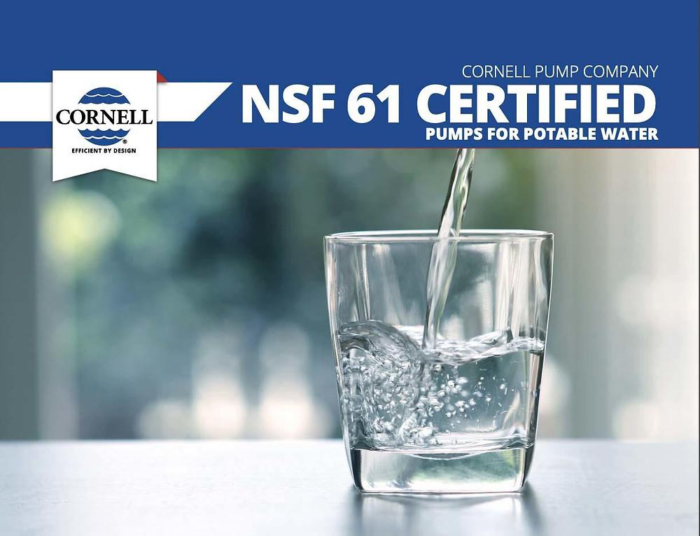 Cornell Pump bombas centrifugas con certificacion NSF 61