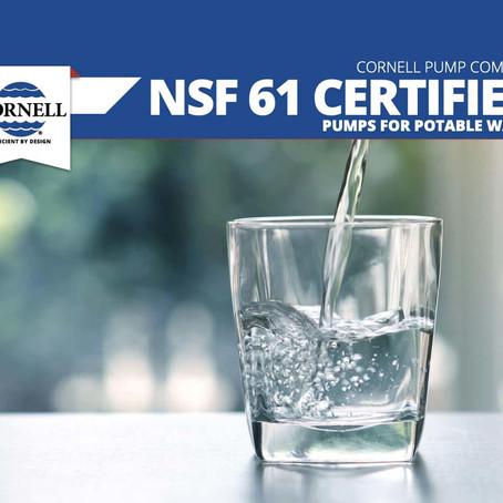 Cornell Pump logra certificación NSF 61