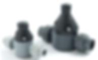 Griffco válvula de contrapresión, utilizada con bombas dosificadoras Pulsatron y Pulsafeeder para dosificacion de químicos en tratamiento de aguas, procesos químicos, minería.
