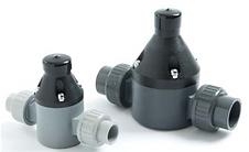Griffco válvula de alivio, utilizada con bombas dosificadoras Pulsatron y Pulsafeeder para dosificacion de químicos en tratamiento de aguas, procesos químicos, minería.