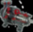 D-PUMPS, bombas centrifugas ANSI, Bajo flujo, Autocebante, construcción: hierro dúctil, acero inoxidable, aleaciones