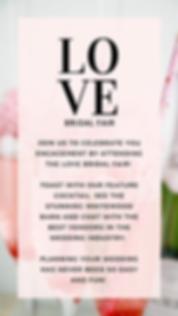 Love Bridal Fair Instagram Story Details