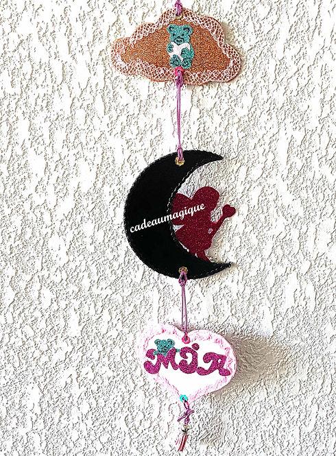 bijou mural mobile : décoration chambre bébé enfant à personnaliser