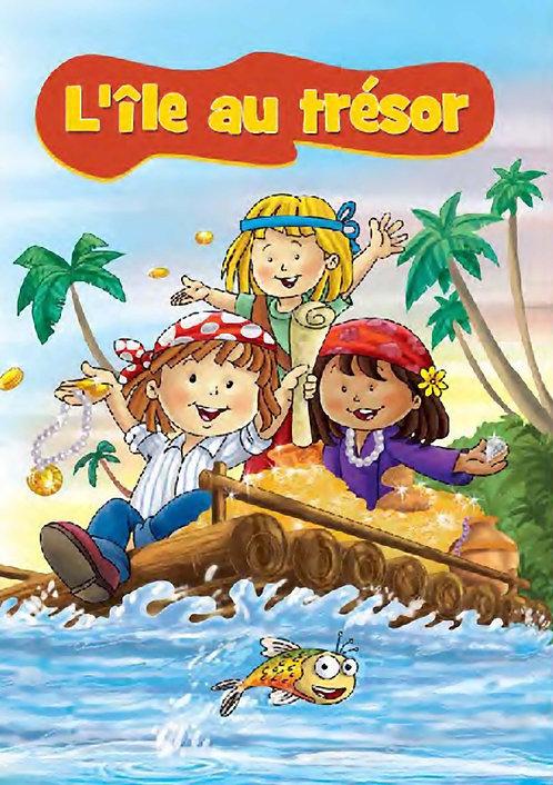 livre enfant personnalisé - l'île au trésor- illustration originale