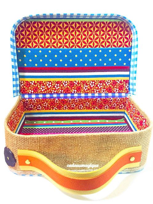 valise tissu gypsy en carton : cadeau personnalisable