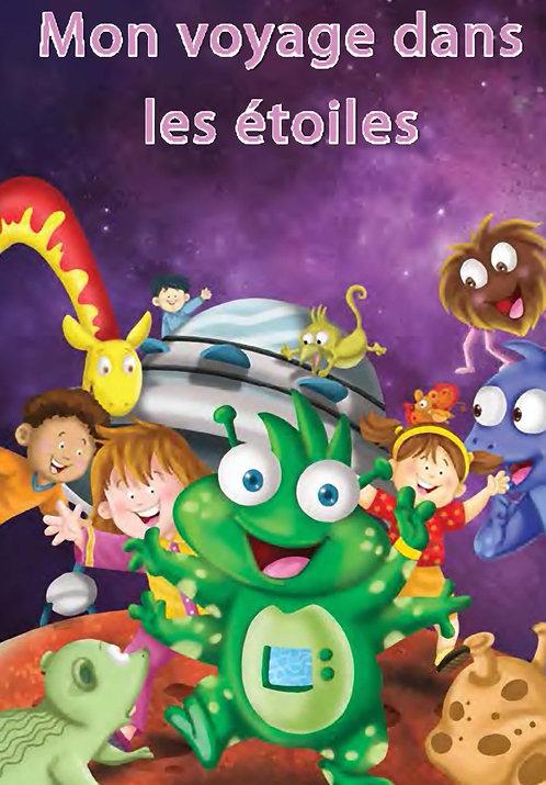 livre enfant personnalisé -voyage dans les étoiles- illustration originale