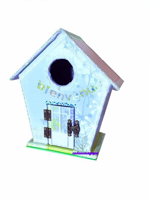 maison poupée - nichoir carton : decoration chambre enfant