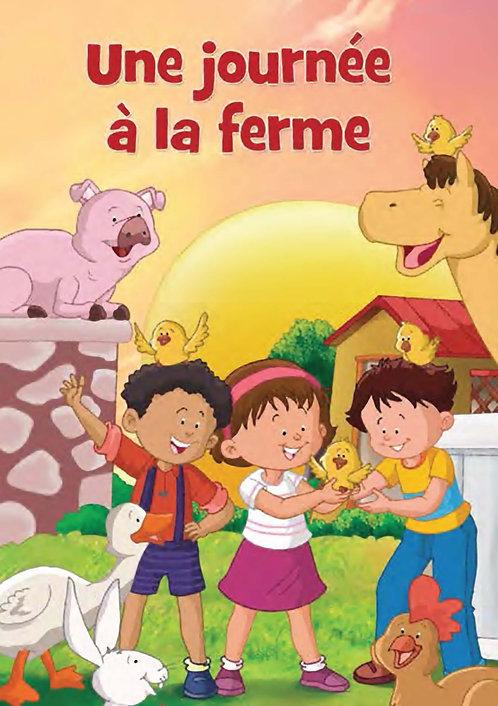 livre enfant personnalisé - journée à la ferme - illustration originale