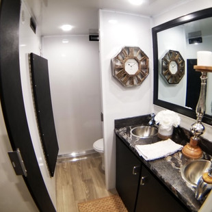 Inside view of women's restroom