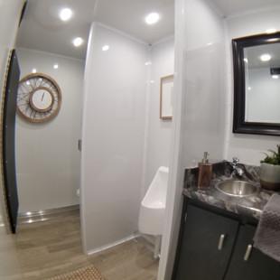 Inside view of men's restroom
