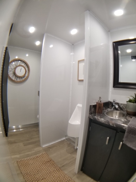 Inside view of men's restroom
