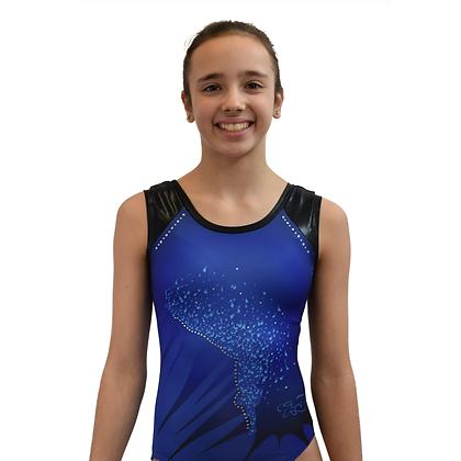 A137 Gymnaste confettis bleus