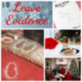 Leaving evidence of Santa's visit