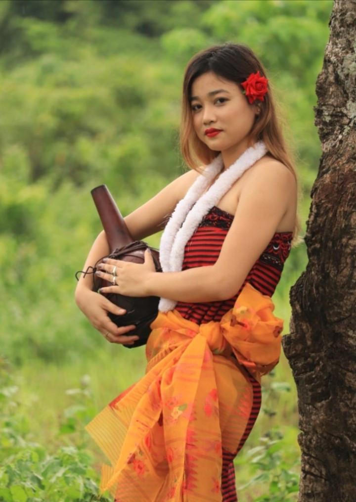 Manipuri Silk Phinge Phanek