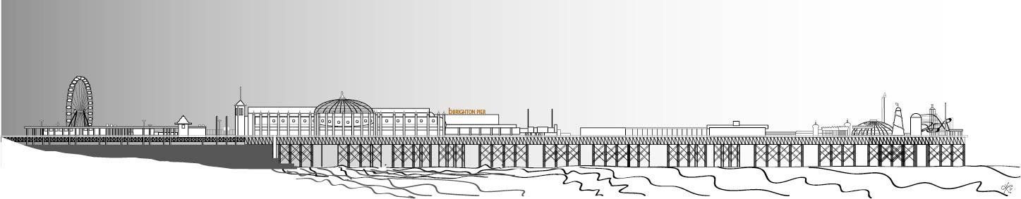 brighton pier white