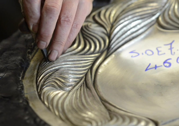 Wally Gilbert, Bowl, 2013, sterling silver, 400 mms, private collection, film by L.H.