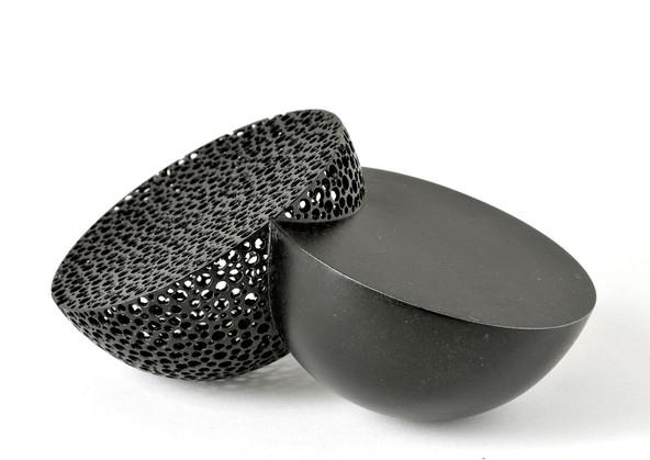 Ane Christensen, Colliding Bowls, 2013, copper, 17 cms wide x 10 cms deep x 7cms high,  private collection, photo Ane Christensen.