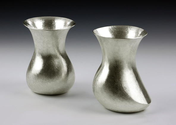 Martin Keane, Whisky and Water Pourers, 2013, sterling silver, 130 mms x 90 mms, private collection, photo Martin Keane