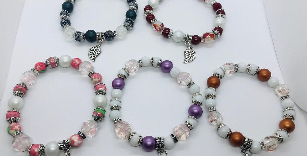 Bracelet avec billes de verres