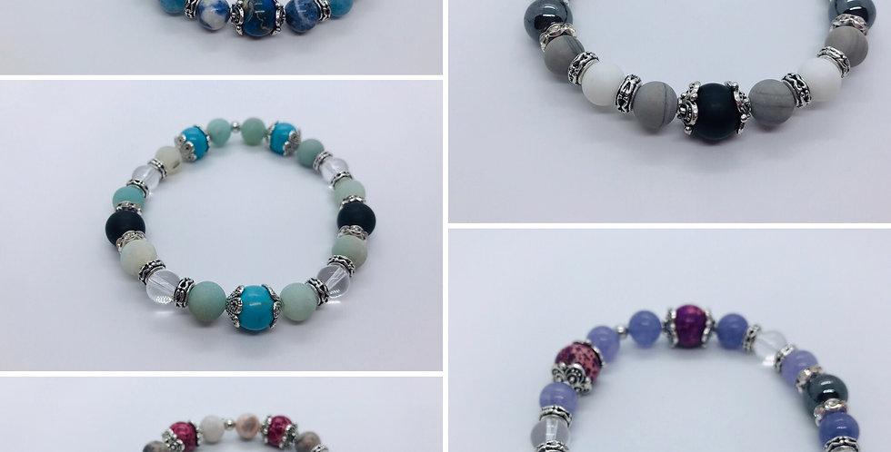 Bracelet en pierres semi-précieuses 10mm