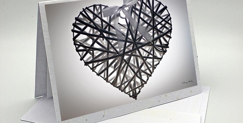 Carte coeur blanc