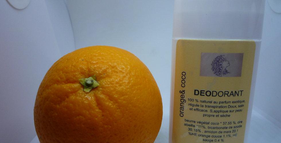 Déodorant régulateur de transpiration orange, coco