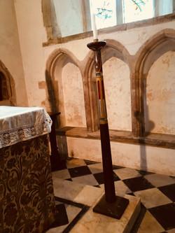 Post beside the Altar