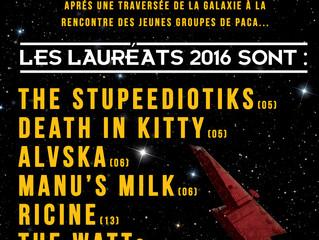 CLASS'EUROCK 2016 : LES LAURÉATS