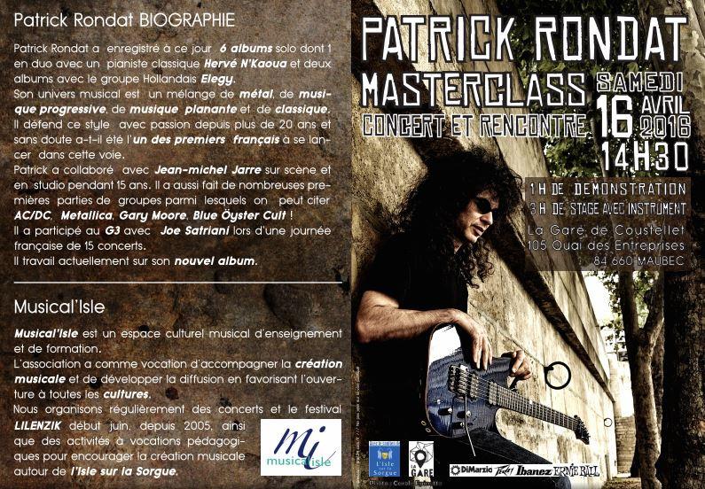 Patrick RONDAT Masterclass