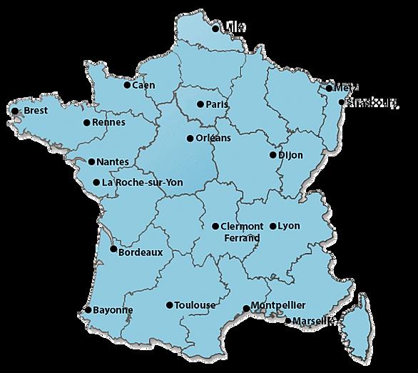Carte de France des CFPM