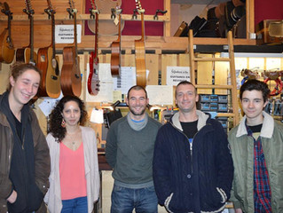 Le CFPM visite l'atelier guitare