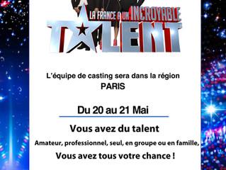 Casting «la France a un incroyable talent»