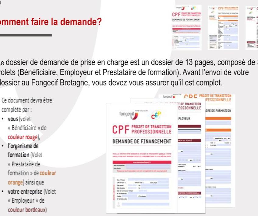 Dossier CPF de transition professionnell