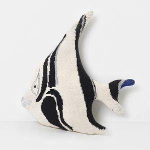 Ferm living -Stripy fish cushion