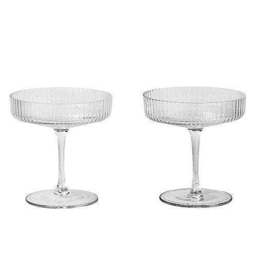 Ferm living - Ripple champagne saucer set of 2