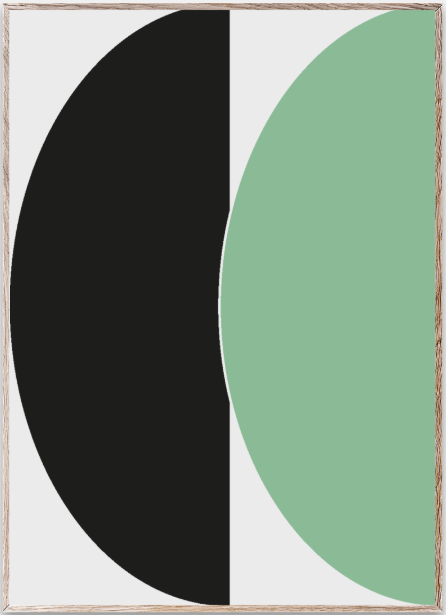 Paper collective -Hal circles III (green)