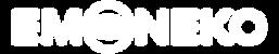 Emoneko logo white