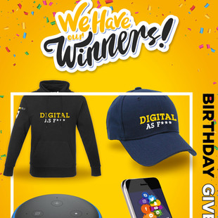 Congratulations to our 17 Birthday Campaign winners.