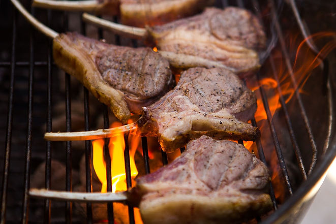 Flame grilled lamb chops - braaitime recipe