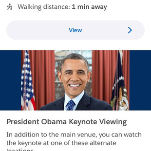 Obama made an appearance at Salesforce Dreamforce 2019.