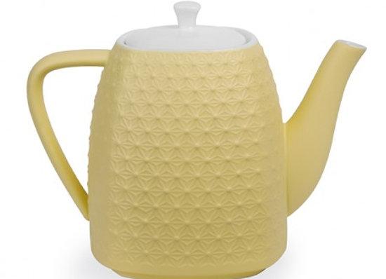 Théière céramique jaune
