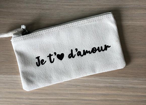 """Trousse """"Je t'aime d'amour"""""""