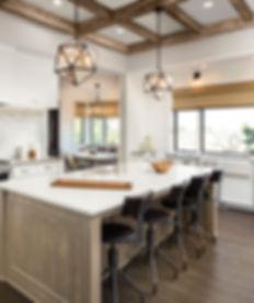 Kitchen Interior with Island, Sink, Cabi