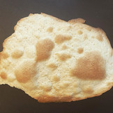 Homemade matzo. A few pieces missing bec