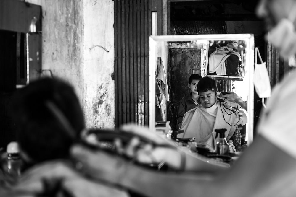 street barber cambodia