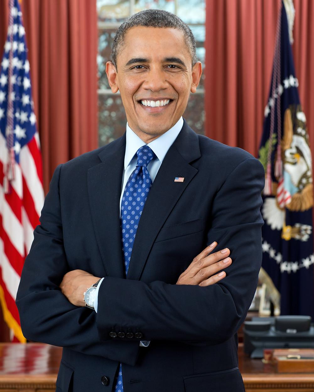 Portrait of President Barack Obama