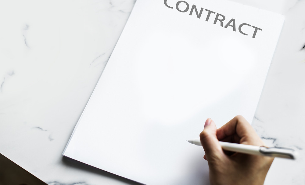 A blank contract
